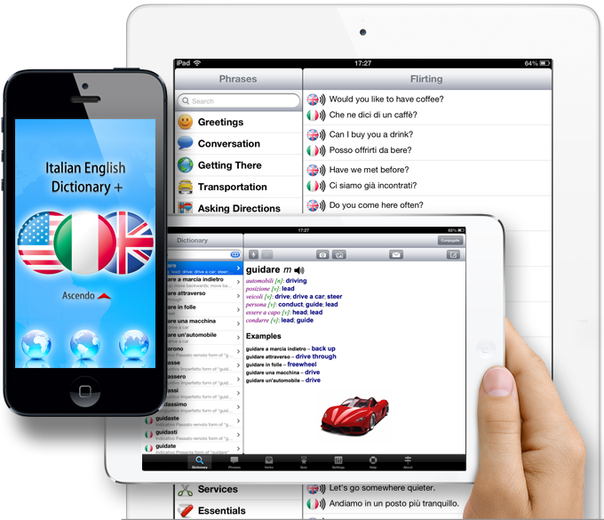 Italian English Dictionary for iPhone, iPad & iPod Touch
